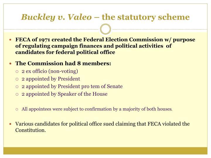Buckley v. Valeo –