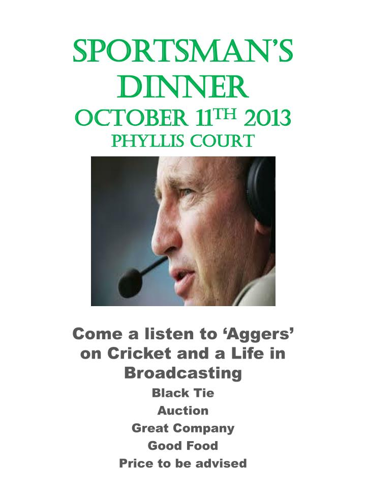 Sportsman s dinner october 11 th 2013 phyllis court