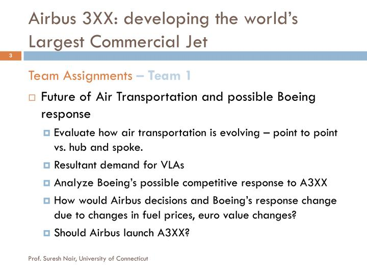 Airbus 3xx developing the world s largest commercial jet1