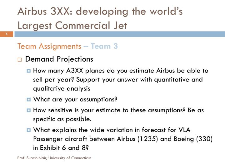 Airbus 3XX: developing the world's Largest
