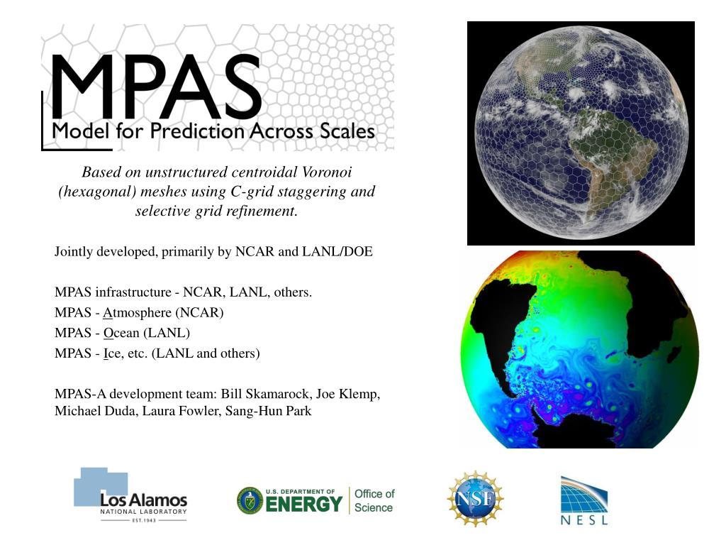 PPT - Ensemble Kalman filter data assimilation for the MPAS