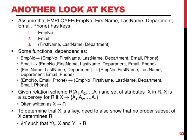 Another Look at Keys