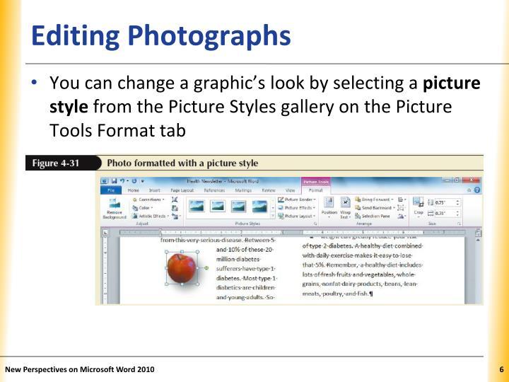 Editing Photographs