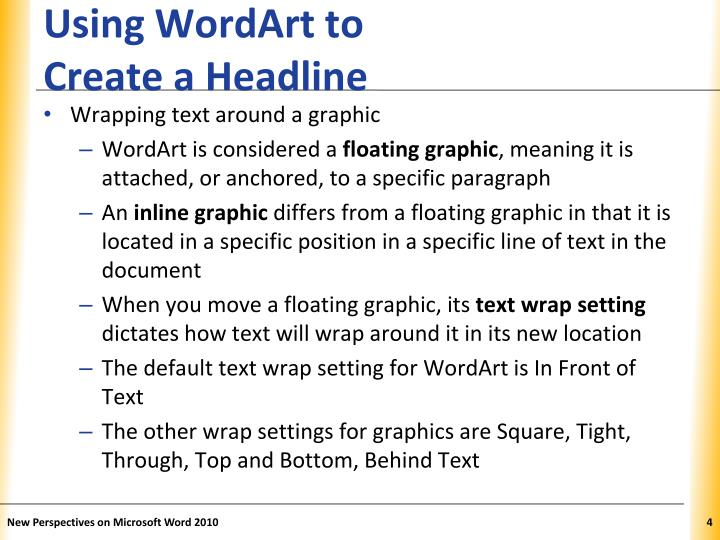 Using WordArt to
