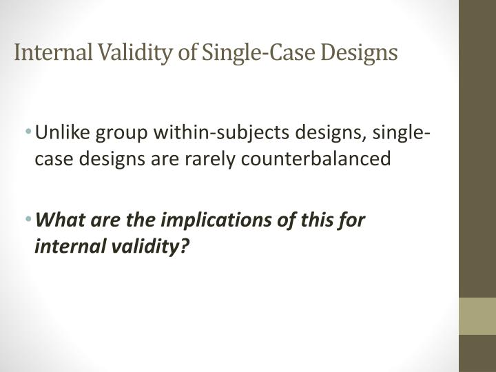 internal validity one instance study