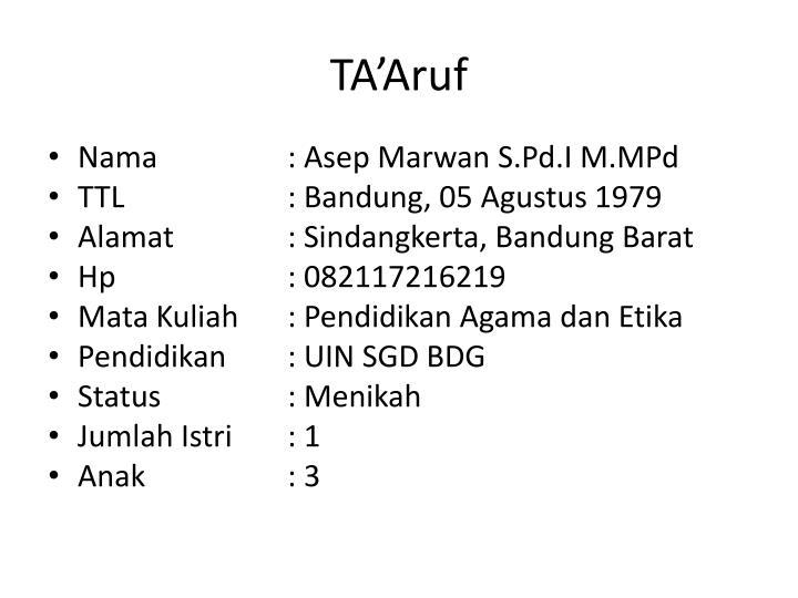 TA'Aruf
