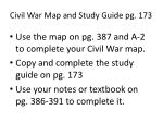 civil war map and study guide pg 173