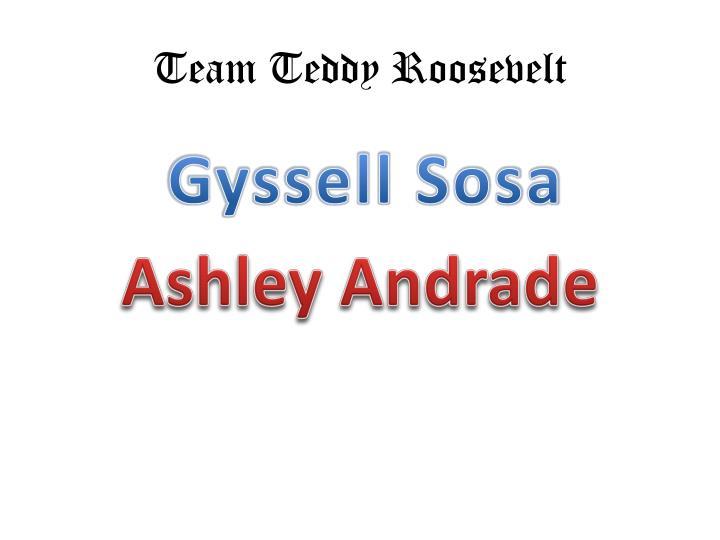 Team Teddy Roosevelt