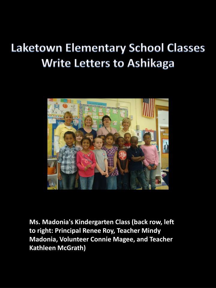Laketown Elementary School Classes Write Letters to Ashikaga