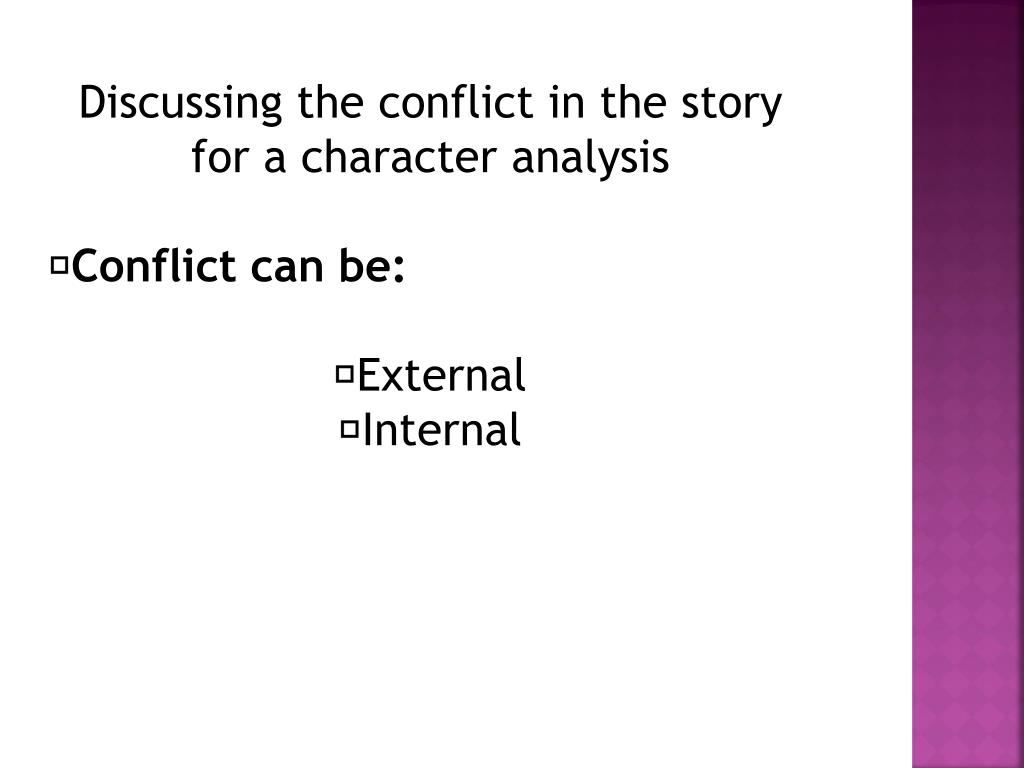How to write a character analysis powerpoint