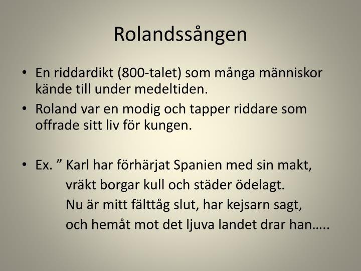 Rolandssången