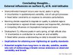 concluding thoughts external influences on surface o 3 at n mid latitudes