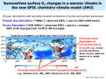 summertime surface o 3 changes in a warmer climate in the new gfdl chemistry climate model am3