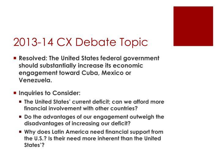 2013-14 CX Debate Topic