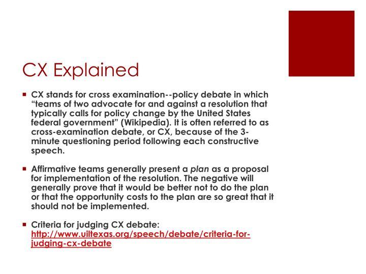 Cx explained