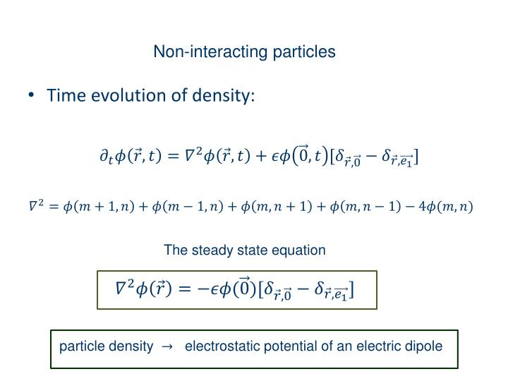 Non-interacting particles