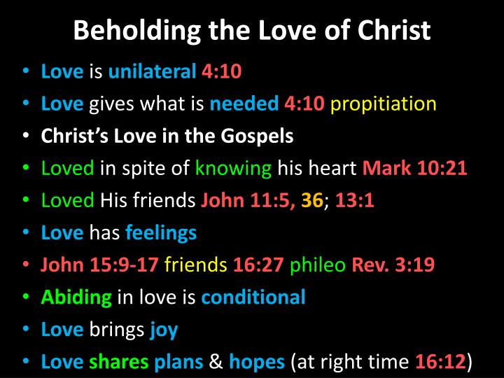 Beholding the love of christ1