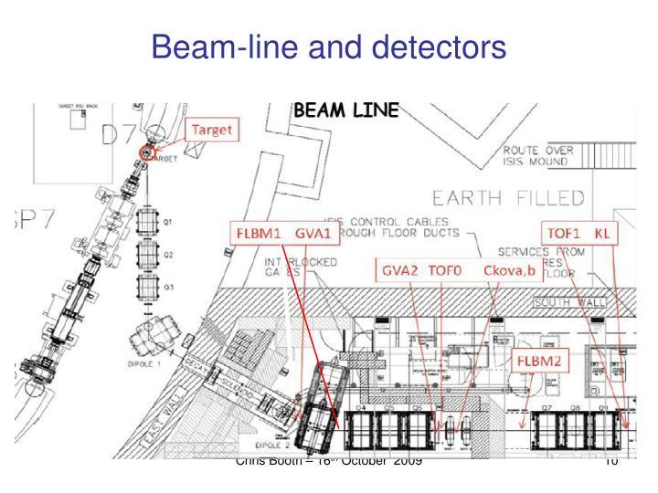 Beam-line and detectors