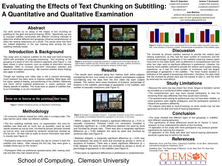 PPT - Evaluating the Effects of Text Chunking on Subtitling: A