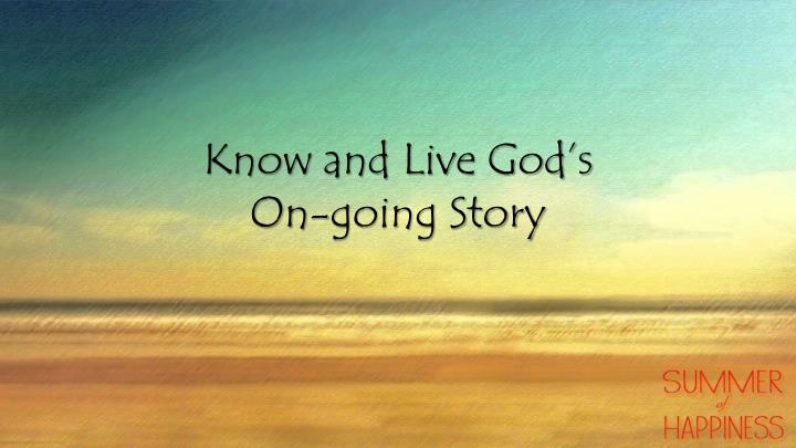 Know and Live God's