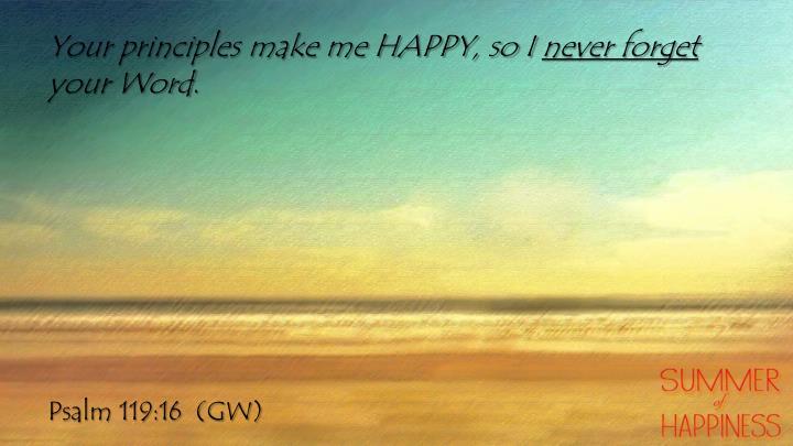 Your principles make me HAPPY, so I
