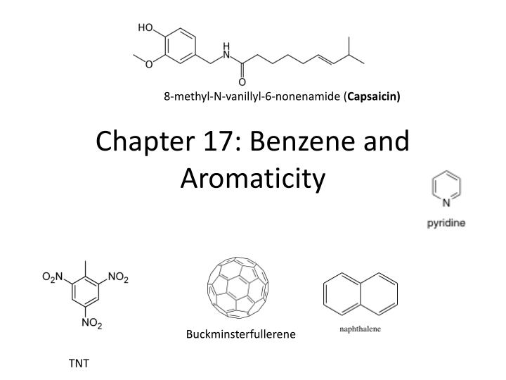 chapter 17 benzene and aromaticity n.