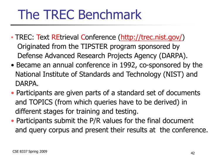 The TREC Benchmark