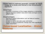 vision based localization global features