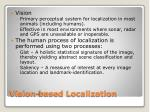 vision based localization