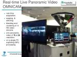 real time live panoramic video omnicam
