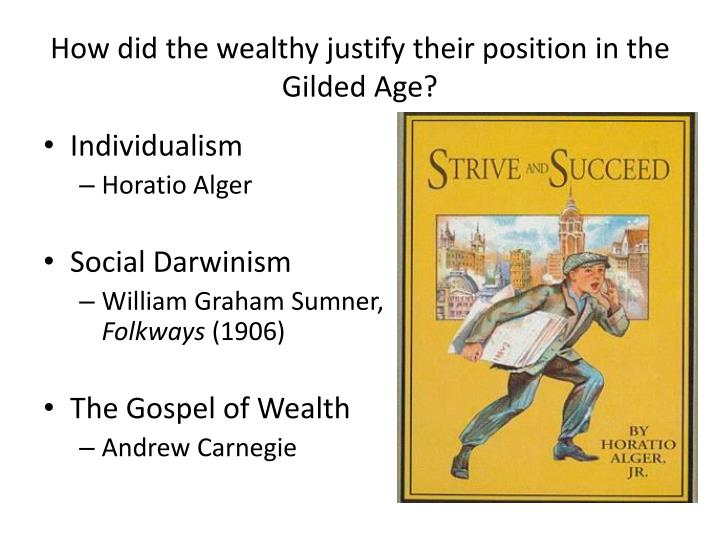the gospel of wealth during the guilded age The gospel of wealth edited by lisha6446 the gilded age edited by lisha6446 social darwinism  individualism was another common theory during the gilded age.