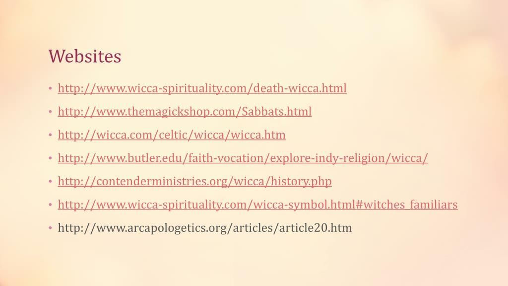 PPT - Wicca/ Neopaganism PowerPoint Presentation - ID:2379223