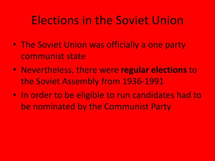 Elections in the Soviet Union