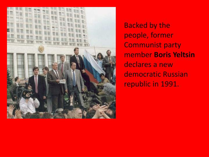 Backed by the people, former Communist party member