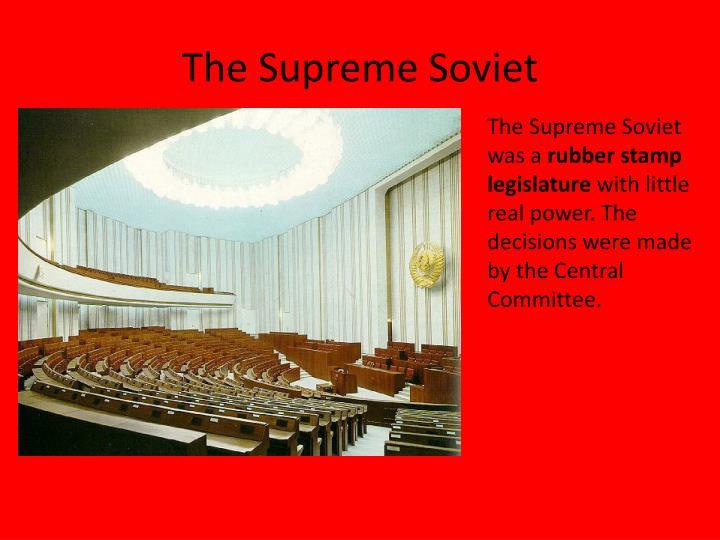 The Supreme Soviet