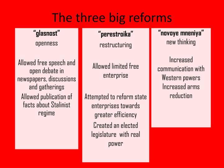 The three big reforms