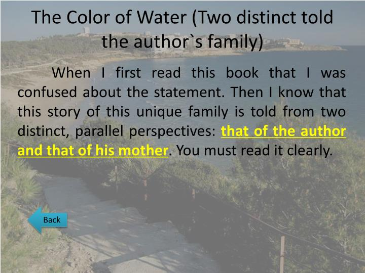 PPT - The Color of Water PowerPoint Presentation - ID:2379376