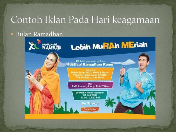 Contoh Iklan Pada Hari keagamaan