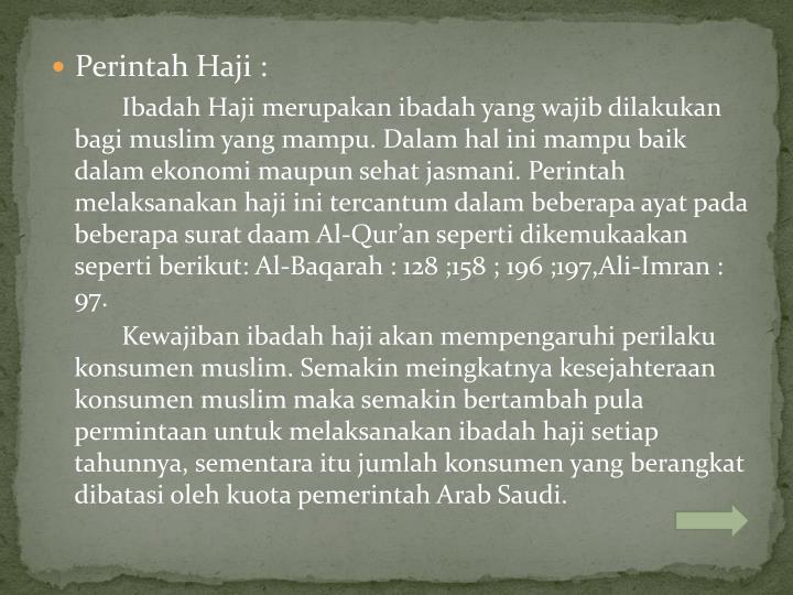 Perintah Haji :