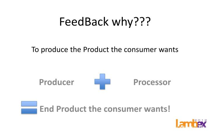 feedback why to produce the product the consumer wants n.