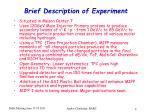 brief description of experiment