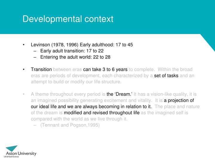 Developmental context