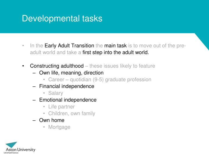 Developmental tasks