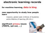 e lectronic learning records