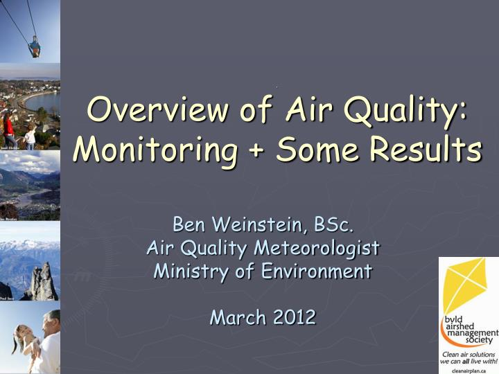 overview of air quality monitoring some results n.