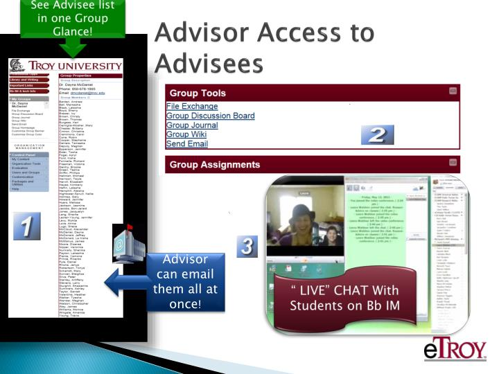 See Advisee list in one Group Glance!