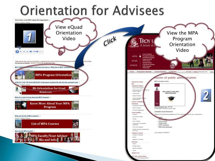 Orientation for Advisees