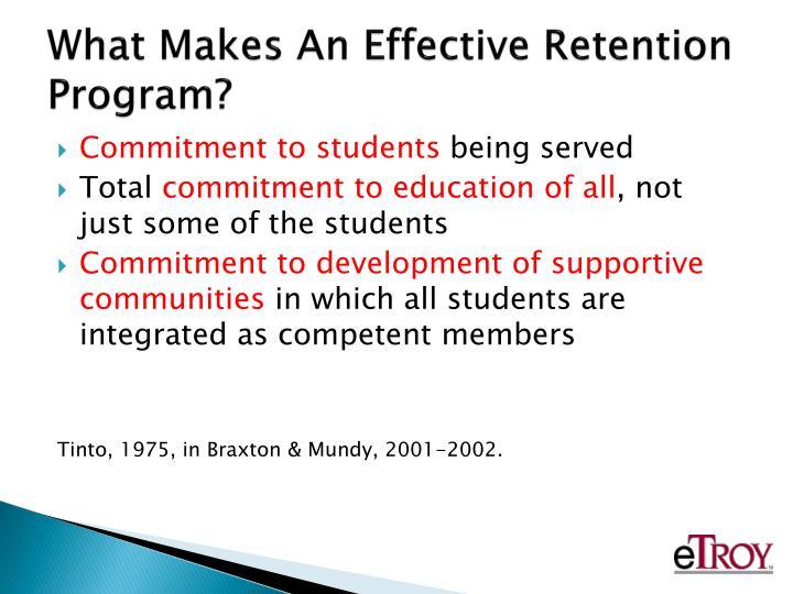 What Makes An Effective Retention Program?