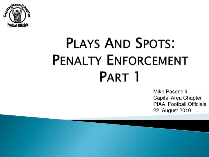 plays and spots penalty enforcement part 1 n.