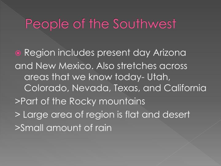 People of the southwest